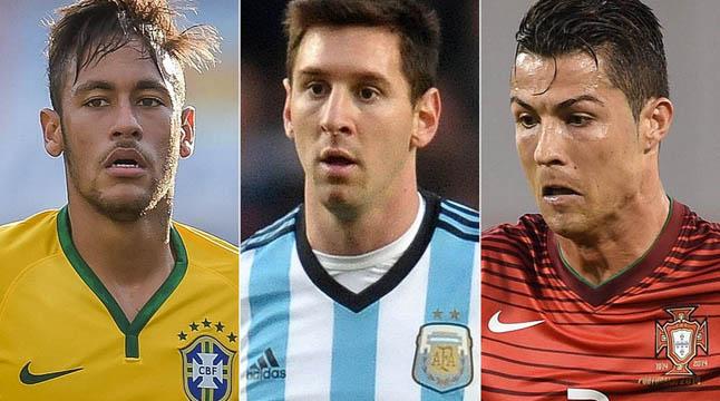 ফিফা বর্ষসেরা ফুটবলার: চূড়ান্ত তালিকায় রোনালদো, মেসি, নেইমার